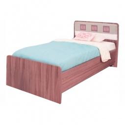 Купить Кровать 'Витра' Розали 96.04 ясень шимо темный/крем-брюле глянец/мокко глянец