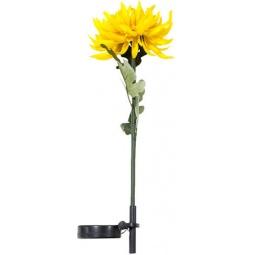 """Купить Светильник садово-парковый на солнечной батарее """"Астра"""" желтый, 1 LED белый, 75см , PL303"""
