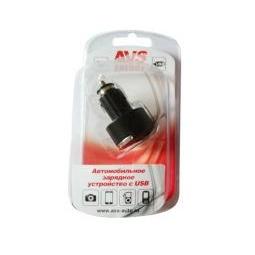 Купить USB автомобильное зарядное устройство AVS 2 порта UC-422