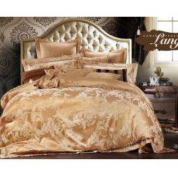 фото Постельное белье Жаккард с вышивкой двуспальный 220-124-2 Valtery