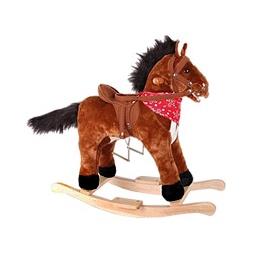 Купить Лошадка-качалка коричневая (со звуком)