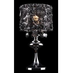 фото Настольная лампа Eurosvet 3400/1T хром/дымчатый хрусталь Strotskis Eurosvet