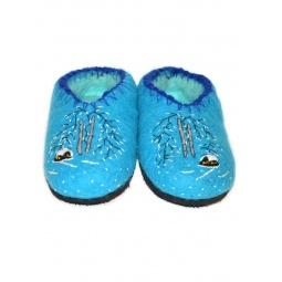 Купить Тапочки войлочные Русские березы (голубые)