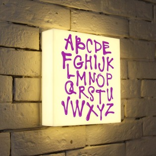 "Купить Лайтбокс ""Alphabet"" 25x25-003 FotonioBox"