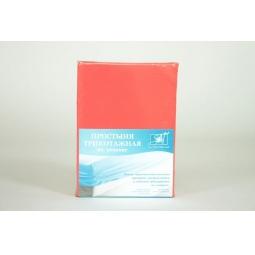 Купить Коралловая трикотажная простыня на резинке 160х200