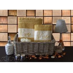 Купить Набор Махровых полотенец Рим из 2 шт 50*90 + 70*140 plt127-10 Турция