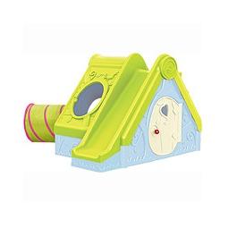 Купить Игровой дом ФУНТИК с горкой, голубой-зеленый
