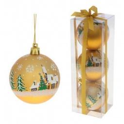 Купить Елочная игрушка 'Ремеко' Набор из 3 елочных шаров (7 см) 499542