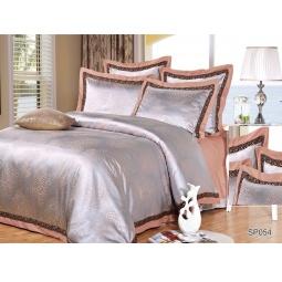 фото Постельное белье Жаккард с вышивкой 1,5 спальное FARTENTE 34022 Silk-Place