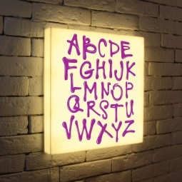 "Купить Лайтбокс ""Alphabet"" 45x45-003 FotonioBox"