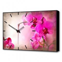 Купить Настенные часы 'Brilliant' (60х37 см) Орхидеи BL-2205