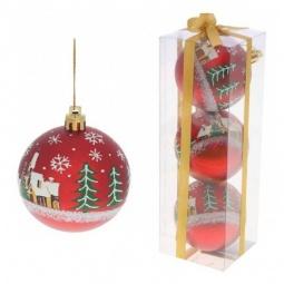 Купить Елочная игрушка 'Ремеко' Набор из 3 елочных шаров (7 см) 499543