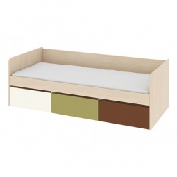 Купить Кровать 'Мебель Трия' Тетрис ПМ-154.02 ясень белладжио/молочный/оливковый/шоколадный