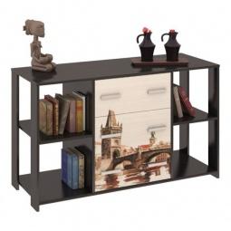 фото Тумба комбинированная 'Мебель Трия' Тип 6 венге цаво/дуб молочный с рисунком