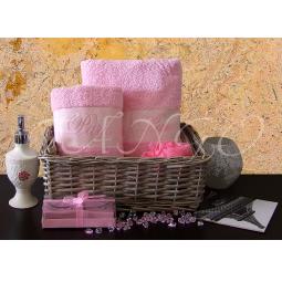 Купить Набор Махровых полотенец Париж из 2 шт 50*90 + 70*140 plt127-5 Турция