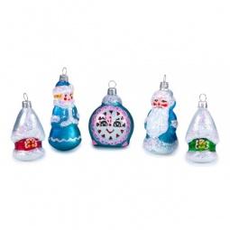 """Купить Елочная игрушка 'Елочка' Набор из 5 елочных игрушек (8.5 см) """"Сказочный"""" 860-197"""