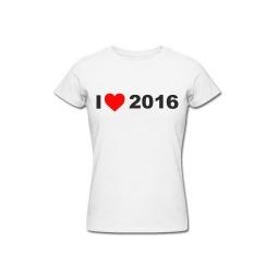 Купить Футболка *I LOVE 2015* женская