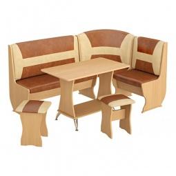 Купить Набор кухонный 'Мебель Трия' Уют-3 Люкс бук/коричневый