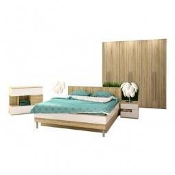 Купить Гарнитур для спальни 'Столлайн' Ирма 12 дуб сонома/белый глянец