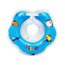 фото Надувной круг на шею FLIPPER голубой