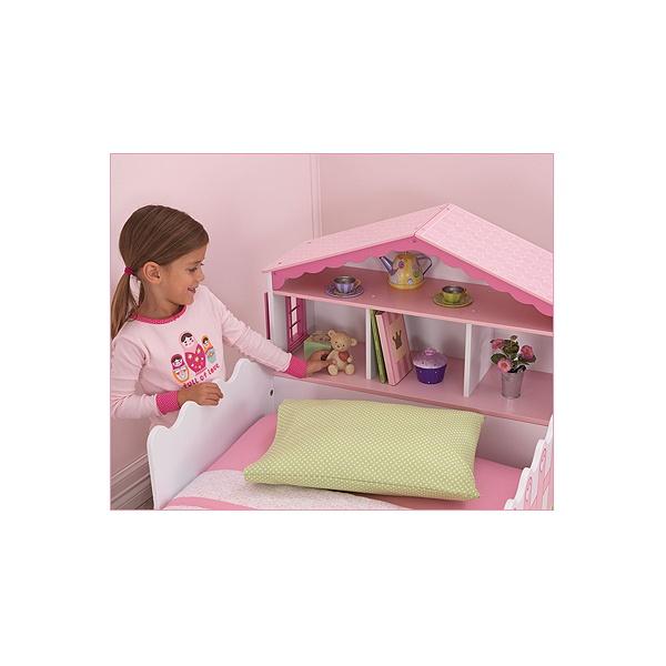 Детская кровать КУКОЛЬНЫЙ ДОМИК с полочками - купить по цене 26540 руб. в интернет-магазине TOP SHOP, Детская кровать КУКОЛЬНЫЙ