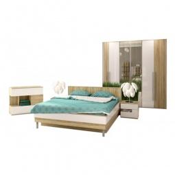 Купить Гарнитур для спальни 'Столлайн' Ирма 11 дуб сонома/белый глянец