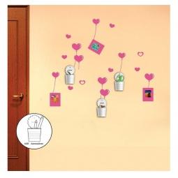 Купить Наклейка на стену со стаканами, NL92