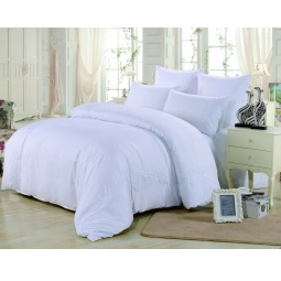 фото Постельное белье Софткоттон с гипюром 2.0 спальное MG-04-2 Valtery