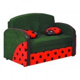 Купить Диван-кровать 'Олимп-мебель' Мася-9 Божья коровка 8161127 зеленый/красный
