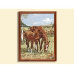 Купить Картина из гобелена - Лошади