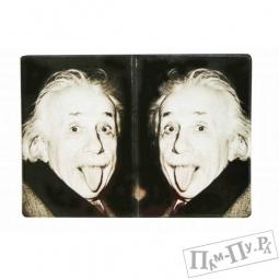 """Купить Обложка на паспорт """"Эйнштейн"""""""
