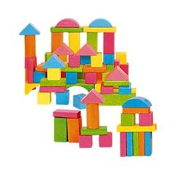 Купить Кубики деревянные ПАСТЕЛЬ, 75 шт. (в ведерке)