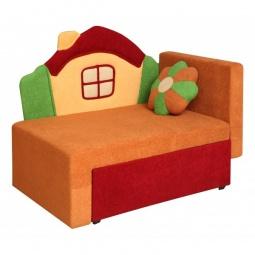 Купить Диван-кровать 'Олимп-мебель' Соната М11-1 Домик 8001127 красный/оранжевый
