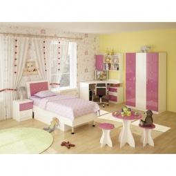 Купить Гарнитур для детской 'Фран' Ниагара розовый