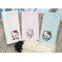 Купить Набор Бамбуковых полотенец Hello Kitty из 3х штук 30*50 см plt150-2 Турция