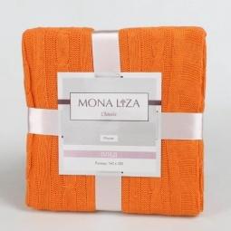 фото Плед Monet акриловый вязанный нежный оранж 29412 Мона Лиза