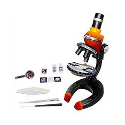 Купить Микроскоп ПРОФИ 100х, 250х, 500х, желто-красный