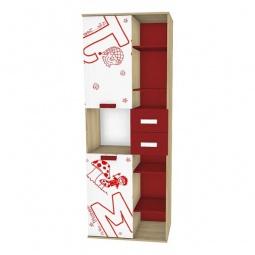 Купить Шкаф комбинированный 'Любимый Дом' Алфавит 506.100 сантана/белый/красный