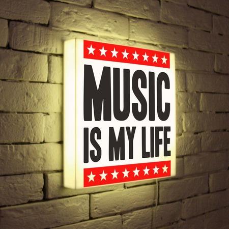 """Купить Лайтбокс """"Music is my life"""" 35x35-072 FotonioBox"""