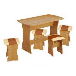 Купить Набор кухонный 'Мебель Трия' тип 1 ольха/бук/коричневый