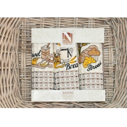 фото Набор полотенец для кухни вафельные с вышивкой PLT179-4 Tango