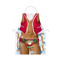 Купить Прикольный фартук *Дед Мороз*