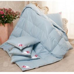 Купить Одеяло теплое пуховое Камелия Евро голубое 744132 Легкие Сны
