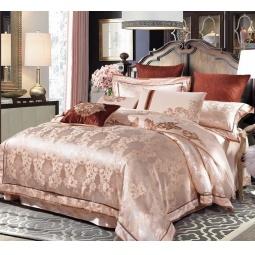 фото Постельное белье Жаккард с вышивкой двуспальный 220-122-2 Valtery