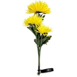 """Купить Светильник садово-парковый на солнечной батарее """"Астра 3шт."""" желтый, 3 LED белый, 80см , PL304"""