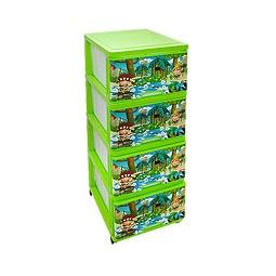 Купить Комод с рисунком ДЖУНГЛИ зеленый