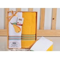 фото Набор полотенец в коробке из 2 шт 50*70 см с вышивкой Груша plt047-5 Turkiz