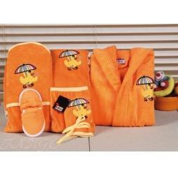 Купить Детский набор с вышивкой до 12 месяцев ( халат + банный набор) HLT036-3 Turkiz