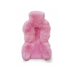 Купить Накидка из натуральной овчины на сиденье комбинированная, роз. цвета