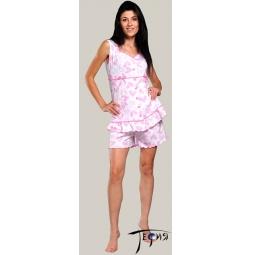 Купить Женская лёгкая пижама из трикотажа 100% хб  арт.  2-45